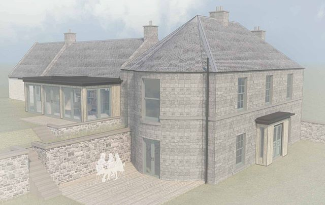 Planning Permission Granted. We're delighted to receive consent for these two timber-clad extensions to a lovely stone house in Midlothian. Using natural materials in the more contemporary additions allows them to complement the existing stone. #midlothianarchitect #bespokedesign