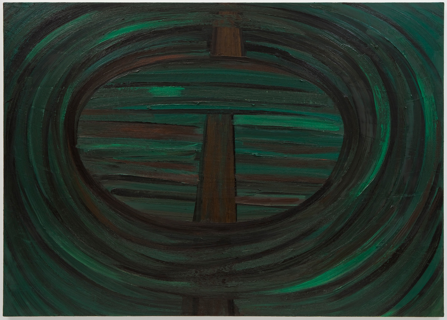 (wacko)  2012 oil on canvas 40 x 56 in/101.5 x 142 cm