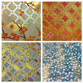 Chiyogami patterns originated from traditional Japanese designs of flora and fauna.