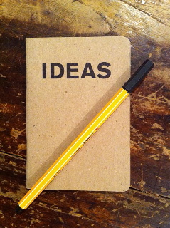 Sit back, relax and get the ideas out of your head and onto paper!