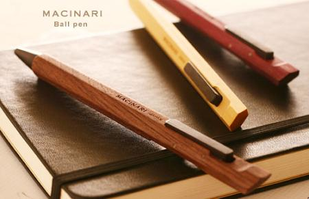 The Limited-Production, All-Natural Macinari Ballpoint Pen is pure Japanese craftmanship. Made from woods like walnut, tulip, and amarello