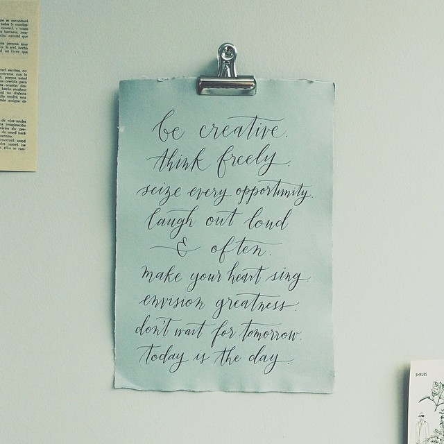 Calligraphy by  Fox and Flourish .