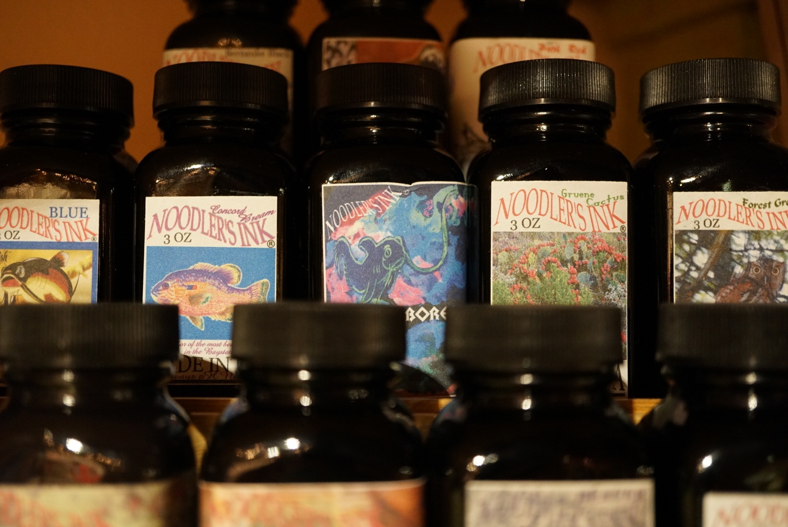 Generous bottles of lovely inks and really fun artwork!