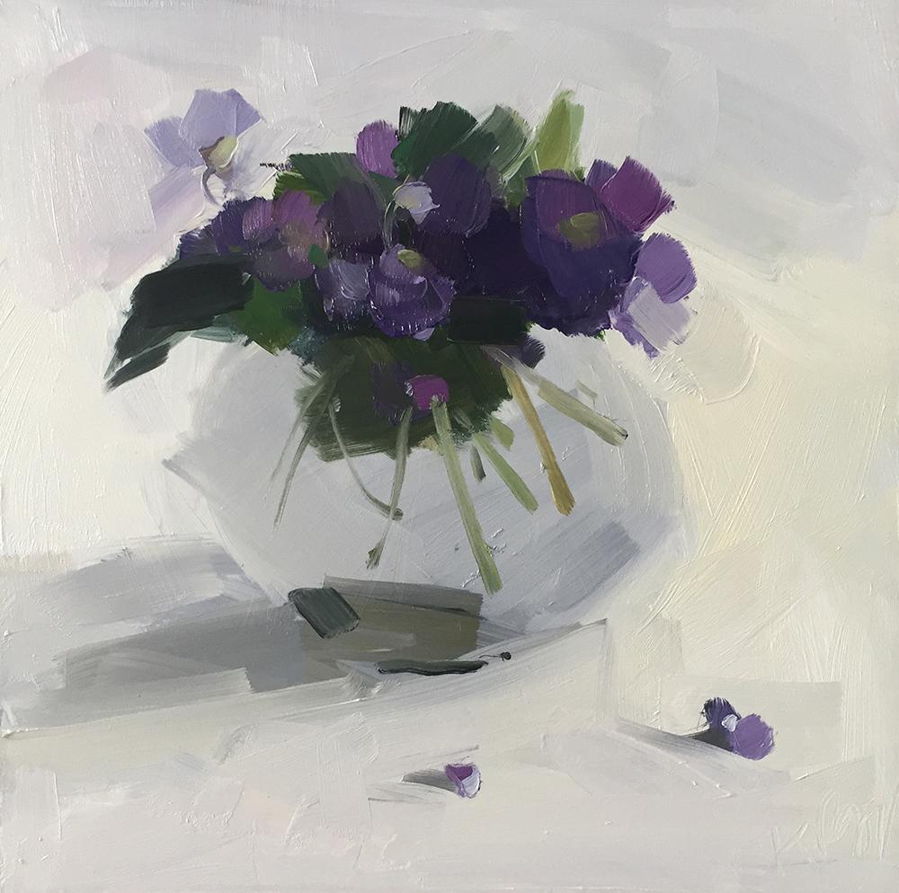 Violets on White