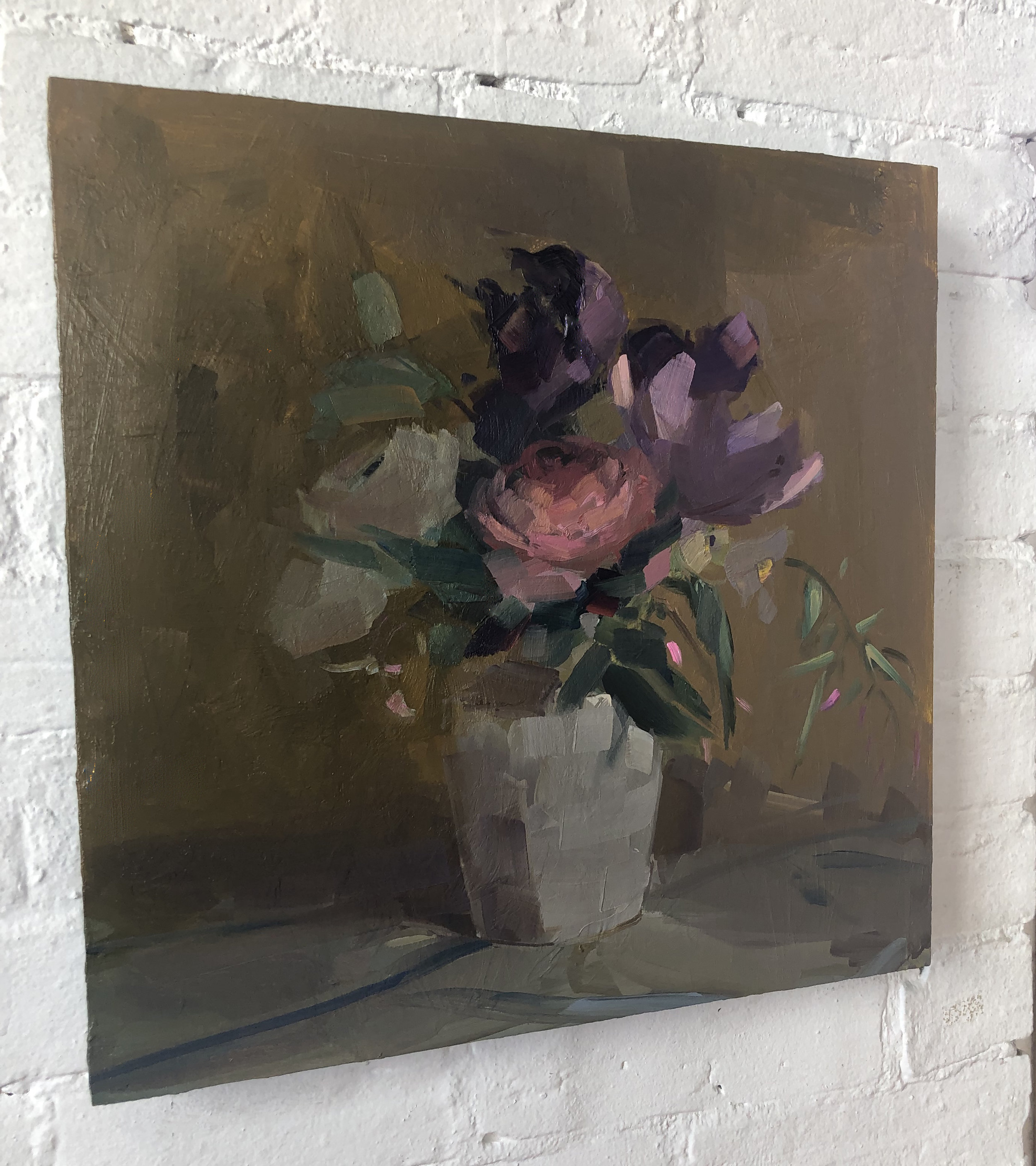 Day 3 Bouquet, 18 x 18, oil on panel.