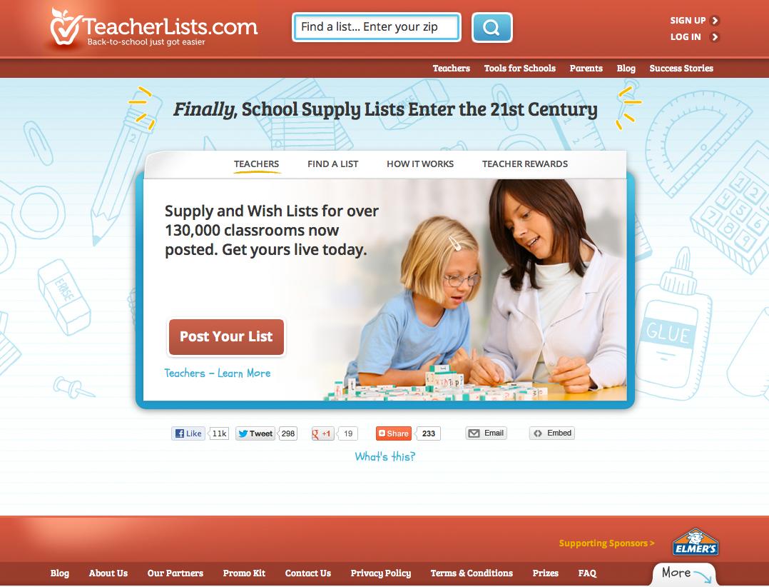 Teacher Lists Website
