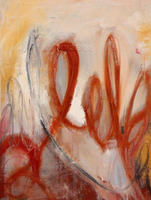 "Love letter II(nonsense) oil on board 18""x24"""