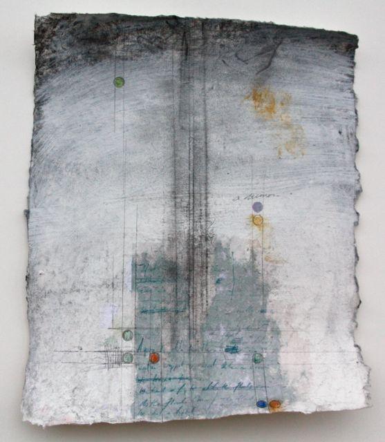 """A complicated matrix 7""""x9"""" mixed media on paper 2013"""