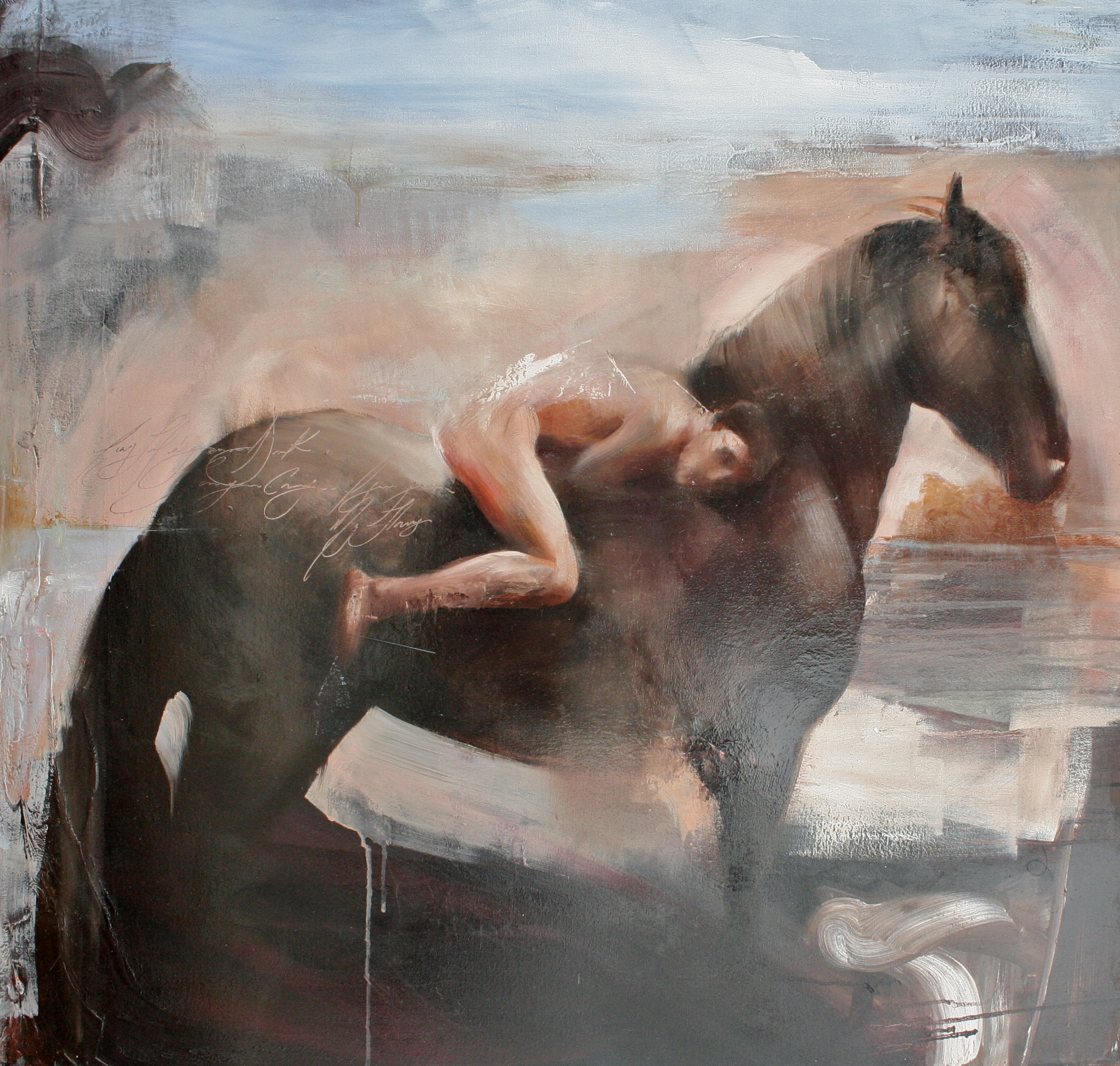 "Esperina  36""x36"" oil on canvas 2012"