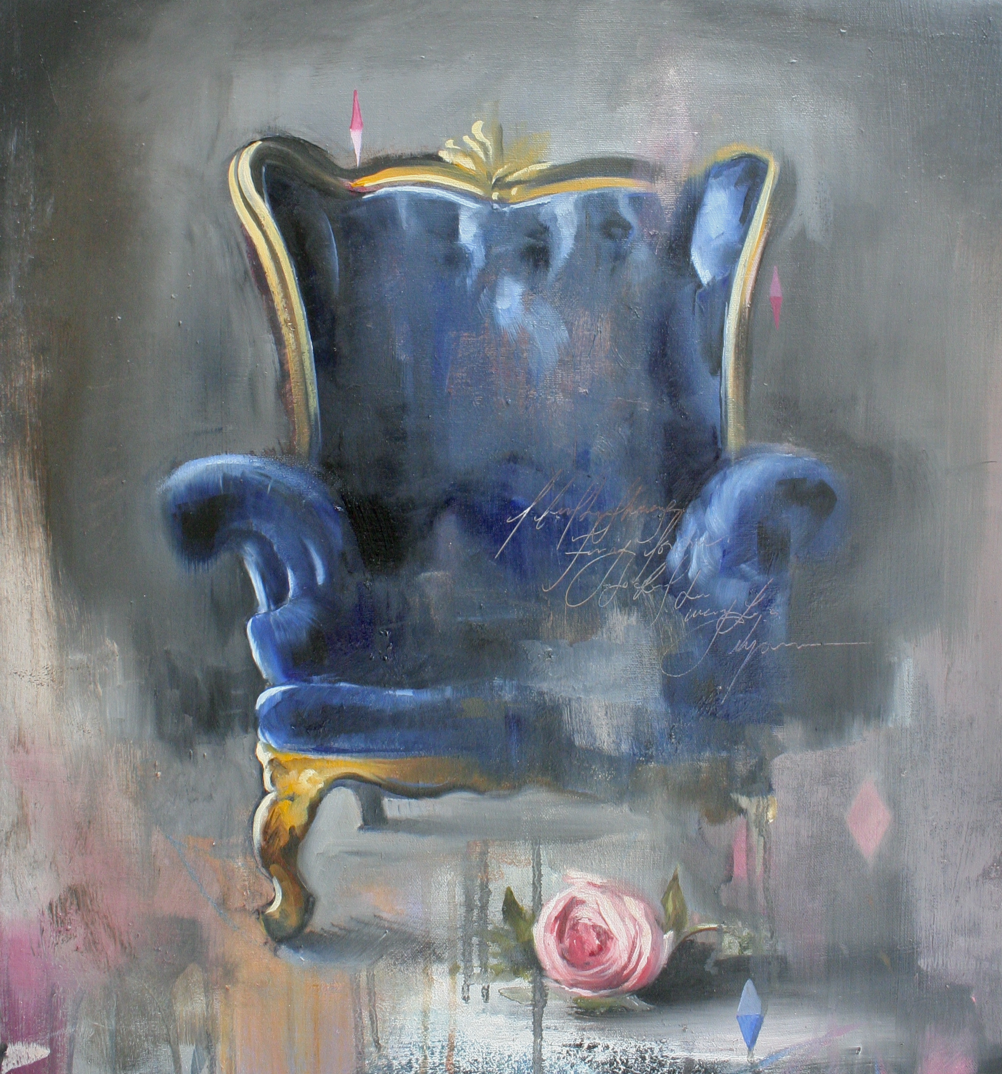 "A Throne for Aethicus oil on canvas 23""x21"" 2013"