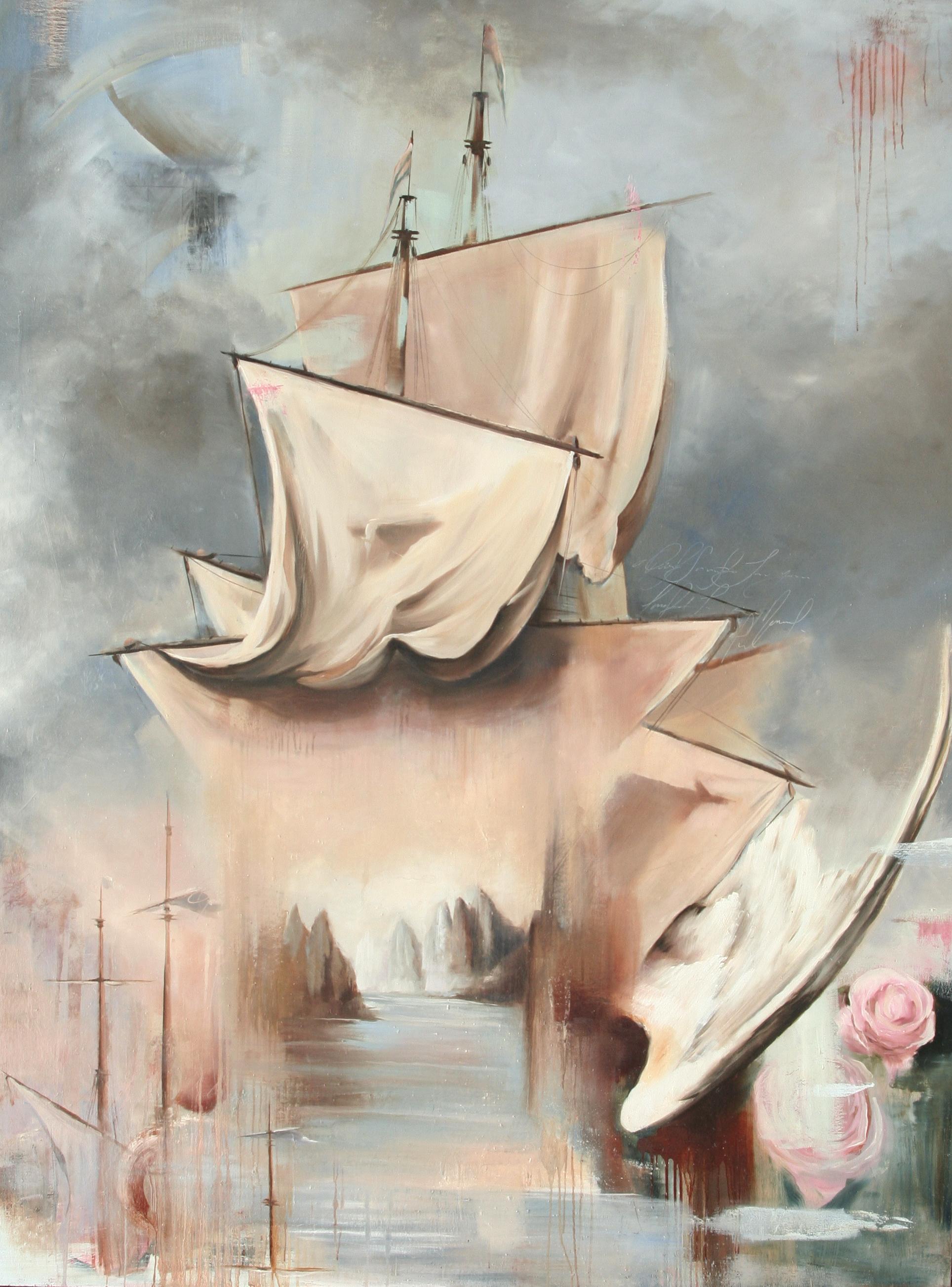 "Ombus oil on canvas 72""x96"" 2012"