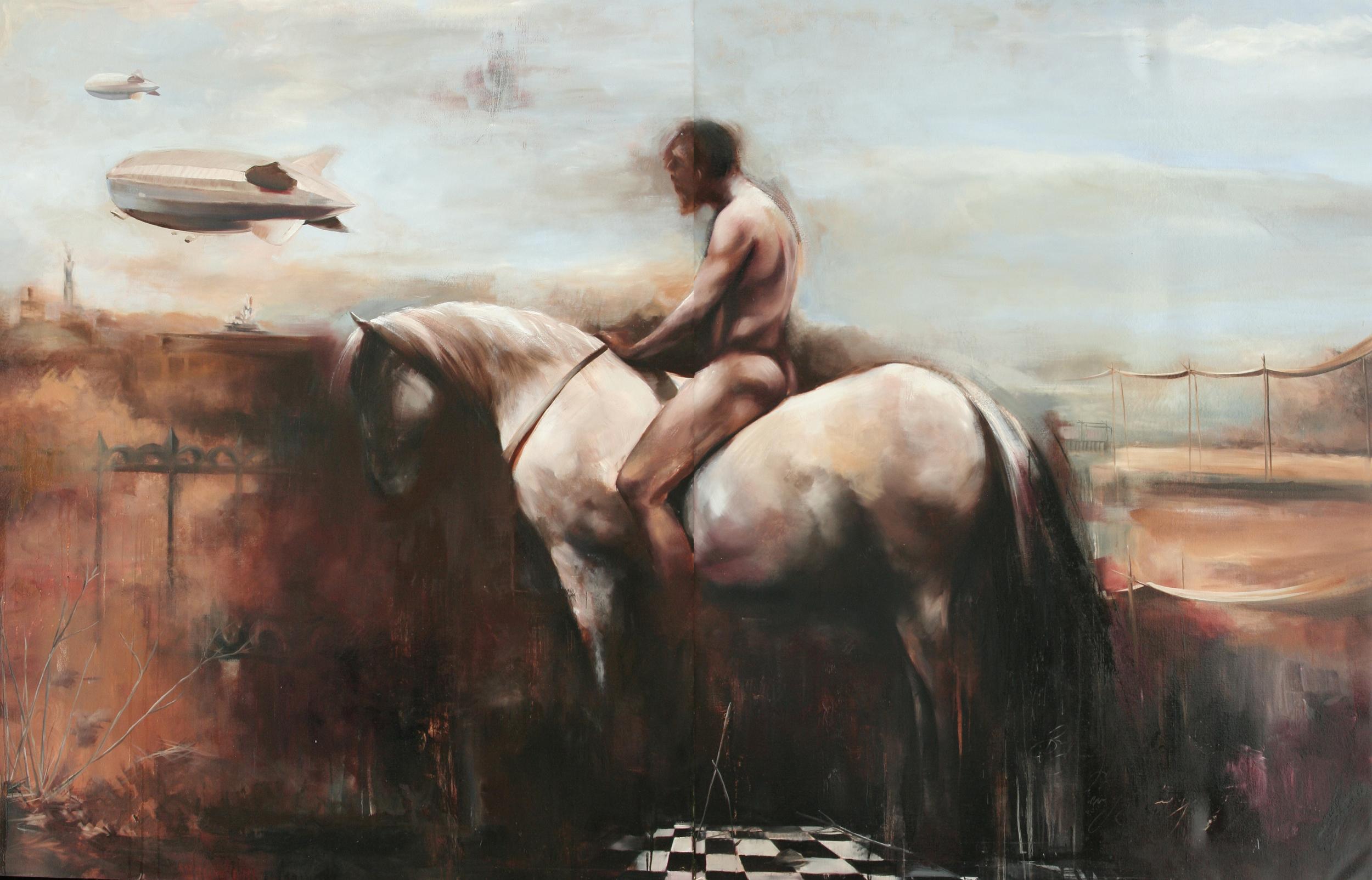 """Aegius oil on canvas 144""""x96"""" 2012"""