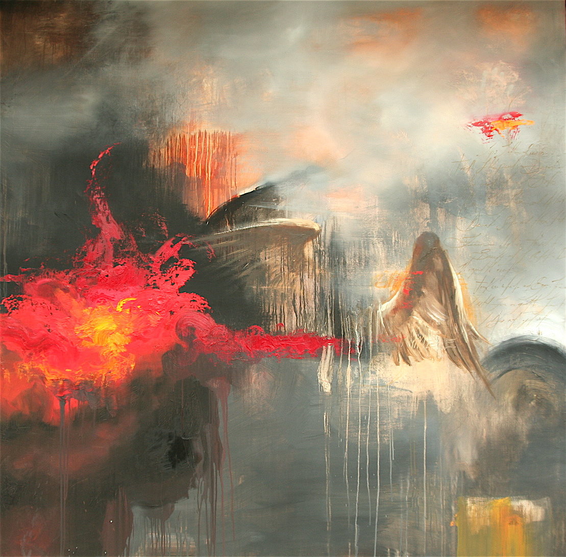 "Ganymede oil on canvas 72""x72"" 2007"