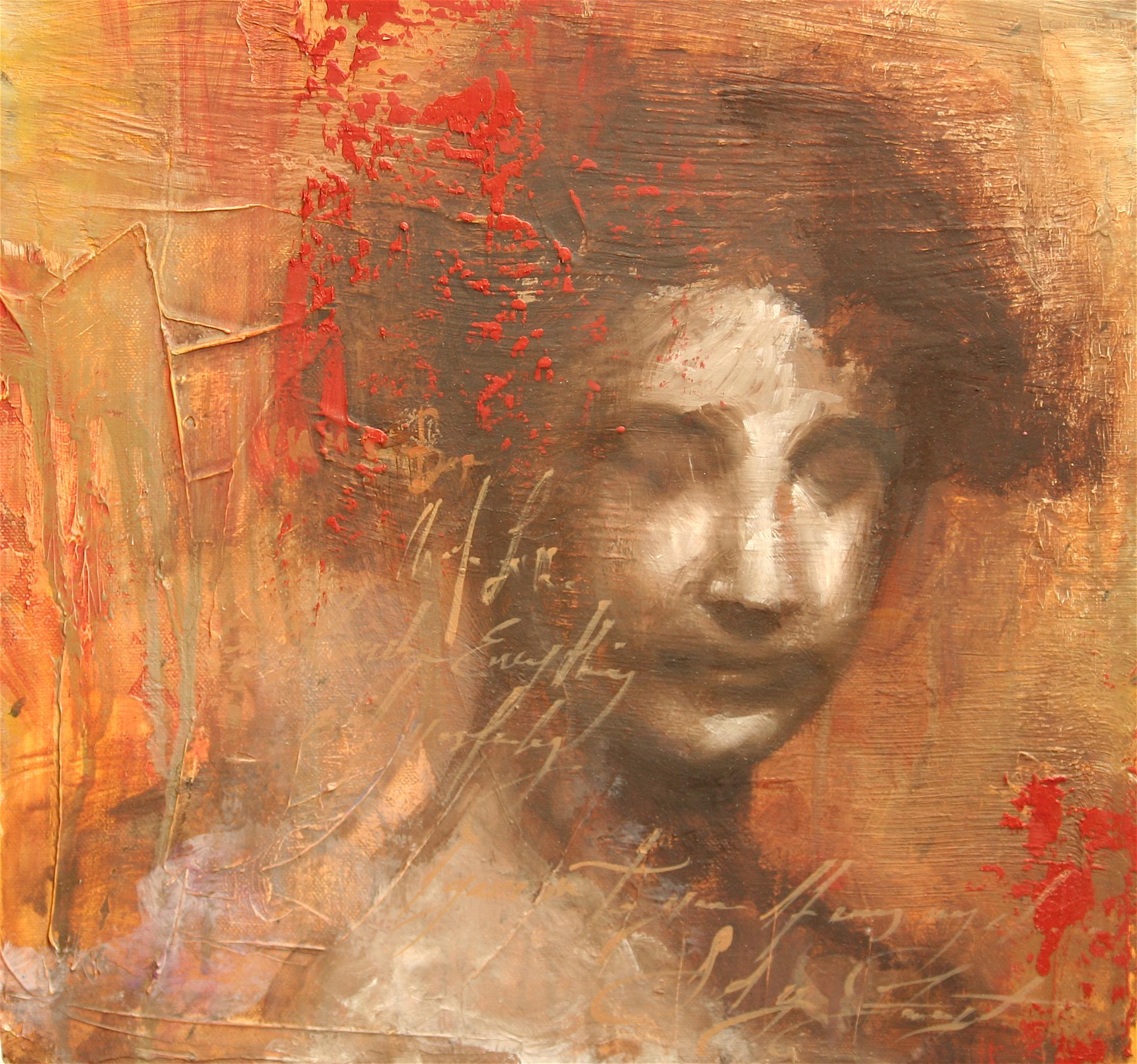 """A Matador oil on canvas 12""""x12"""" 2009"""