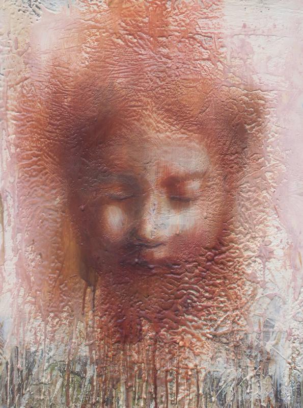"""Dissolution I  16""""x20"""" encaustic on canvas"""