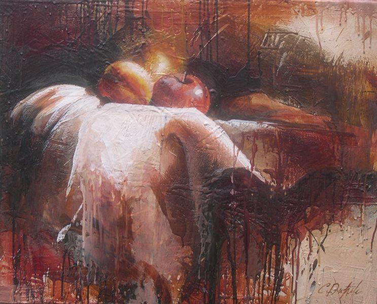 "Vanitas encaustic on canvas 30""x24"" 2007"
