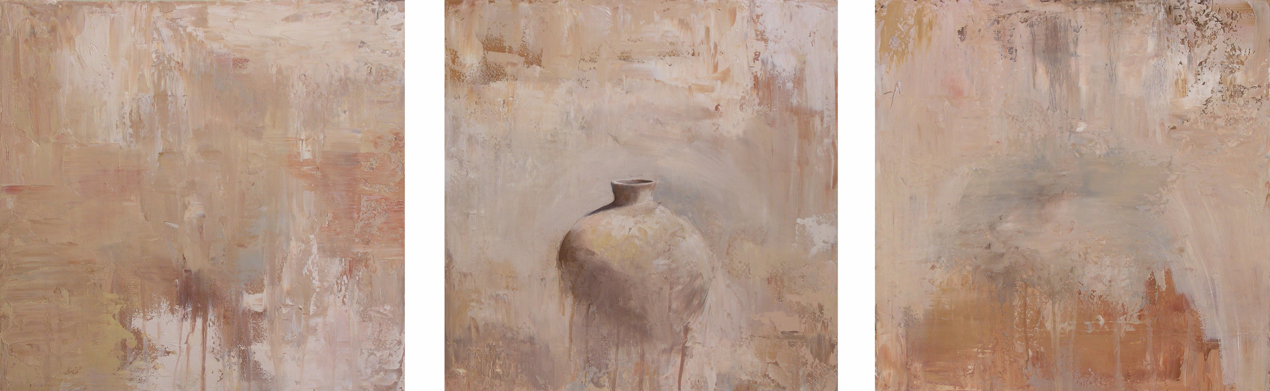 "3 oil on canvas 60""x20"" 2004"