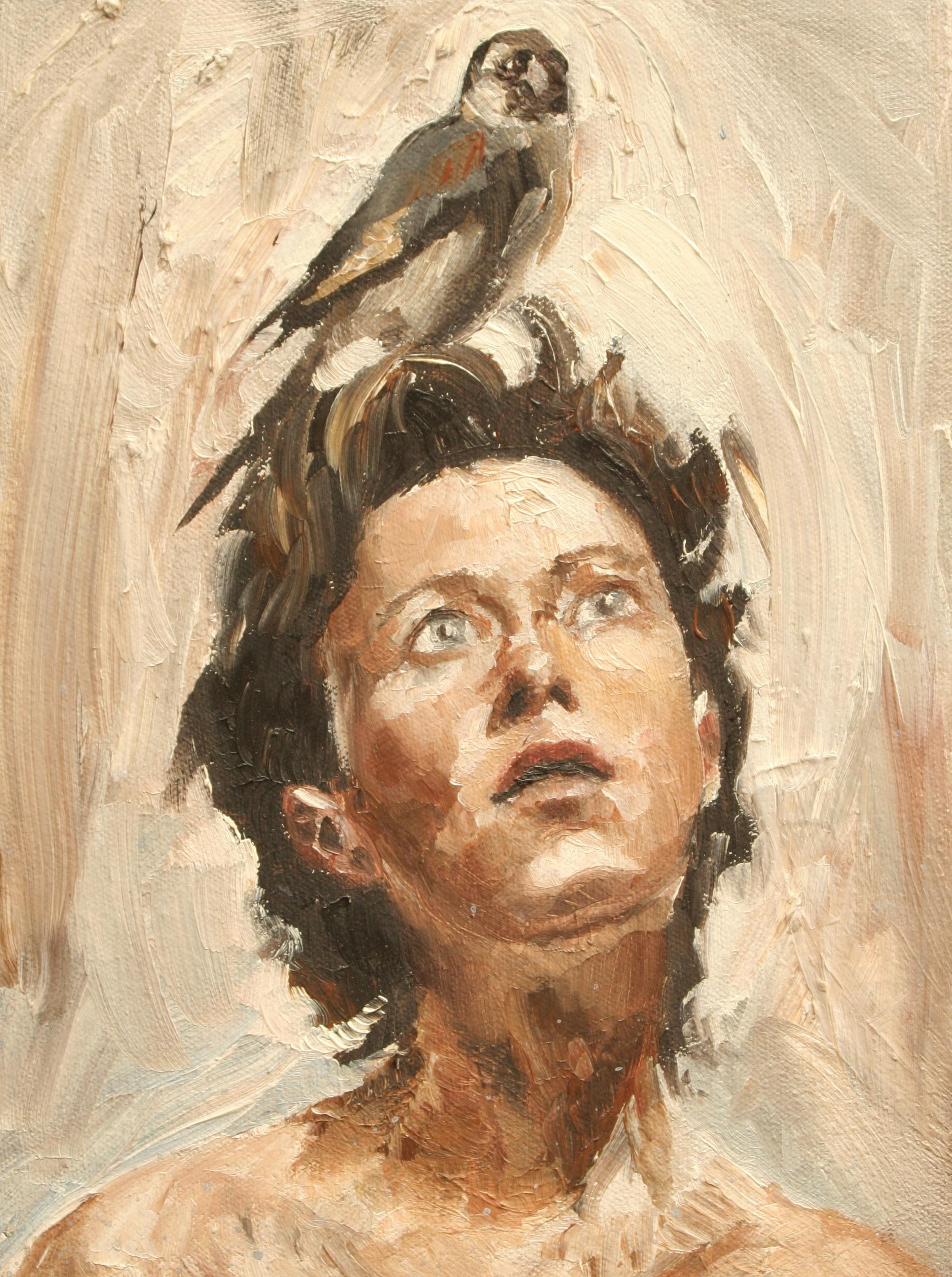 "Weather Vane oil on canvas 9""x12"" 1999"