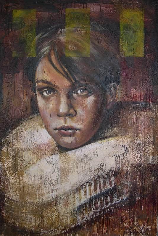 "Untitled 48""x72"" encaustic on canvas"