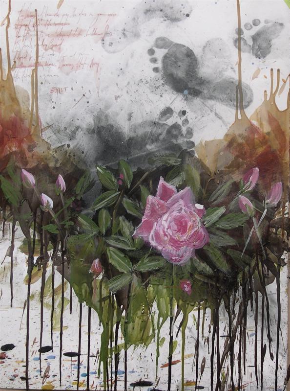 """Untitled 18.5""""x24"""" mixed media on stonehenge"""