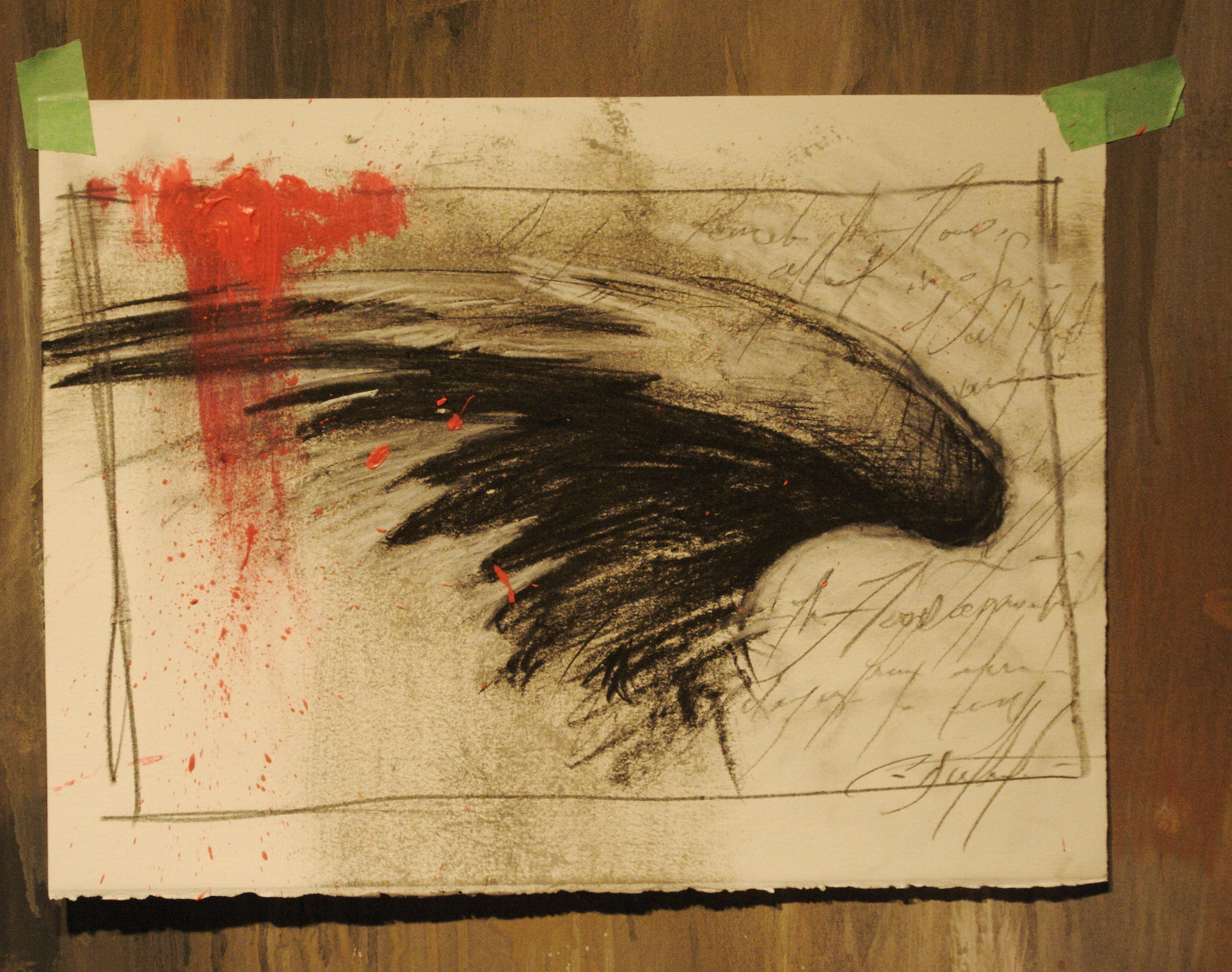 "Study 9""x14"" charcoal/graphite on stonehenge"