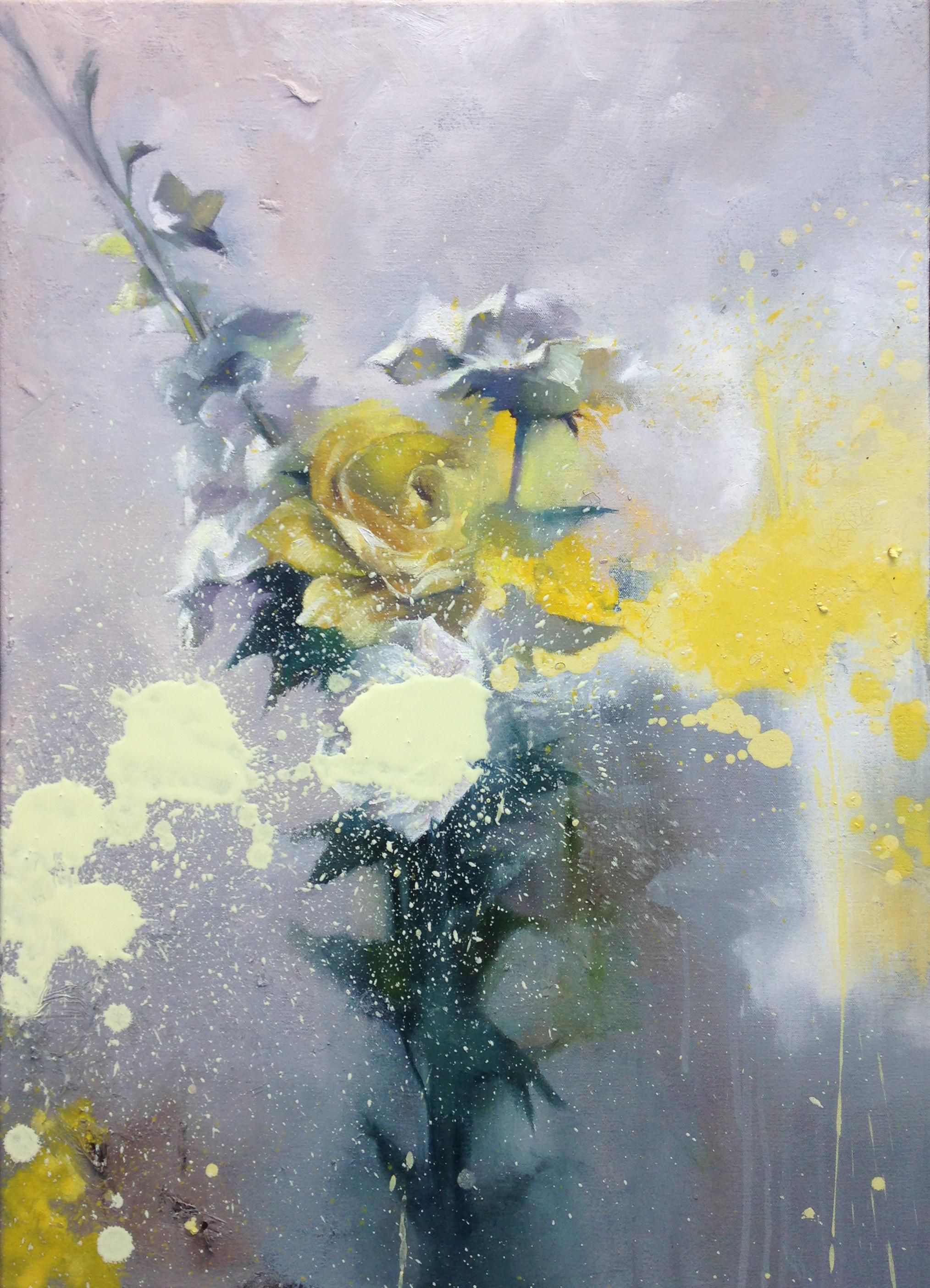 """Les Fleurs du Mal 20""""x28"""" oil on canvas 2015"""