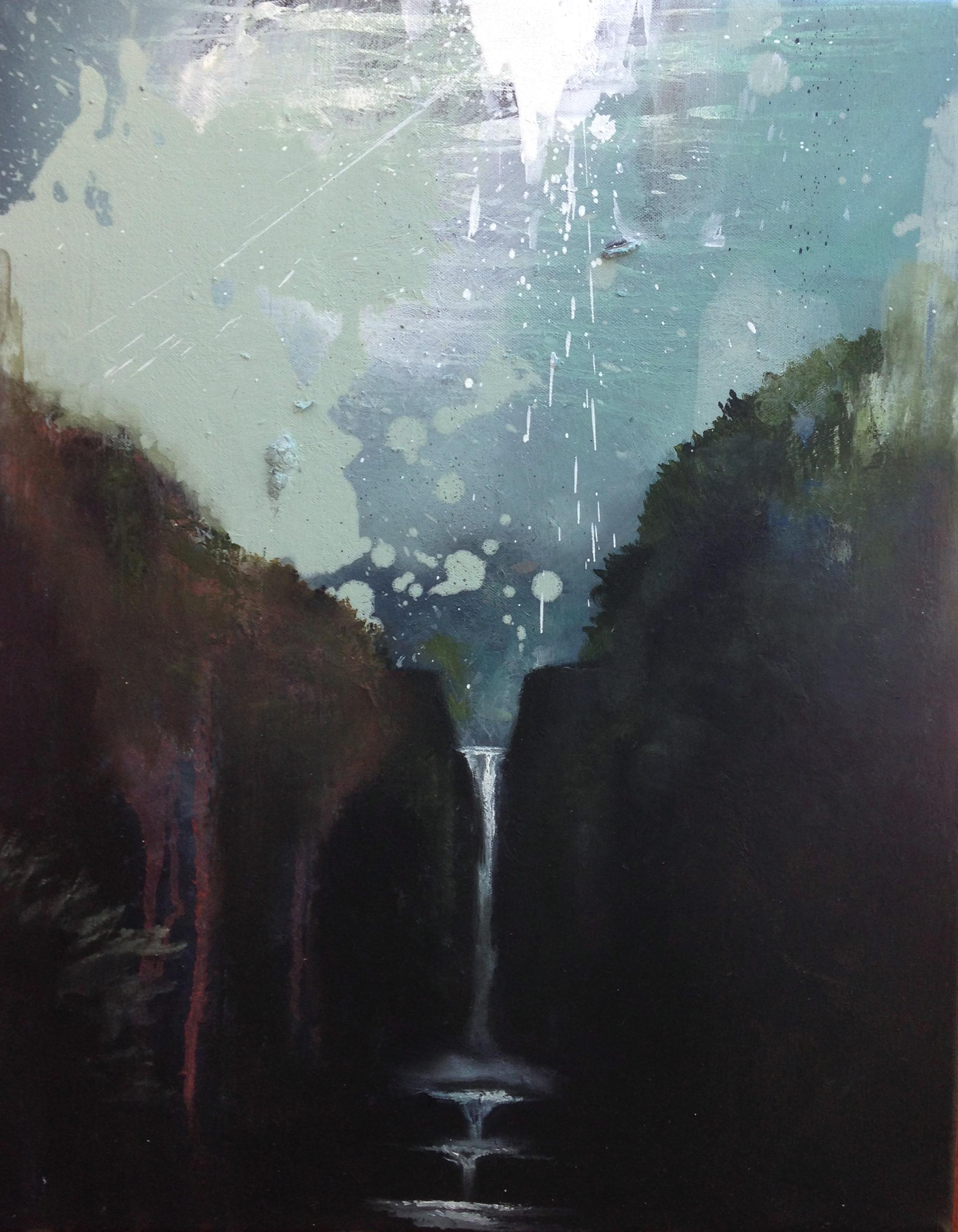 """Cloud Sky 16""""x20"""" oil on canvas 2015"""