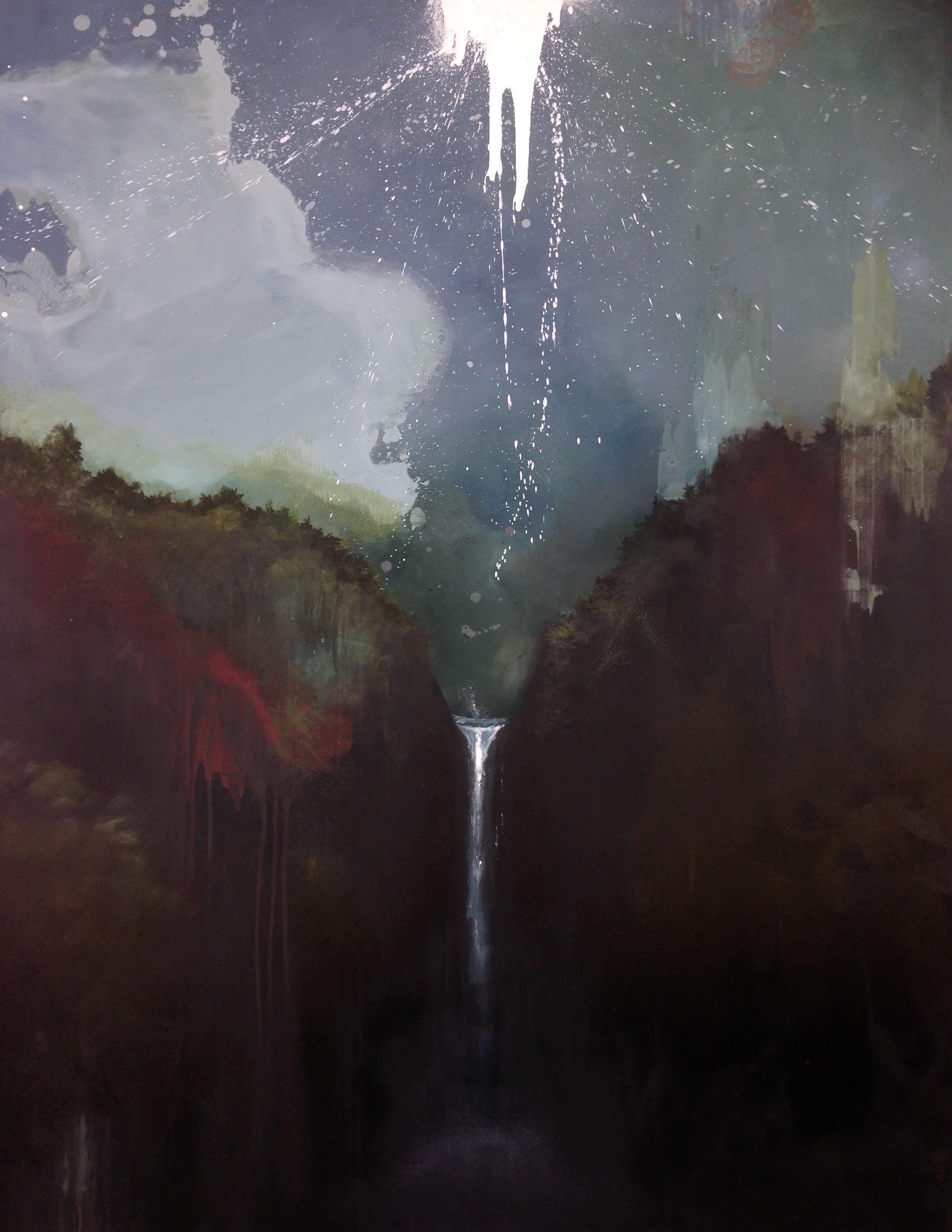 """Cloud sky 48""""x60"""" oil on canvas 2015"""