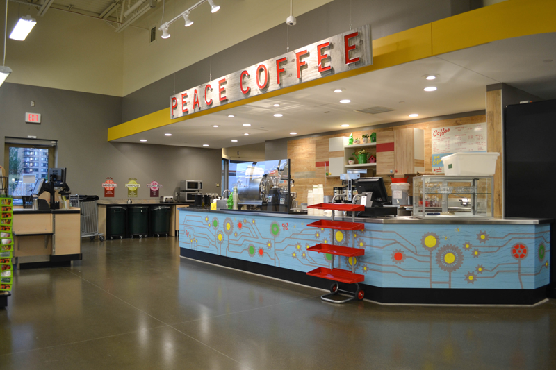 Coffee bar at Lakewinds