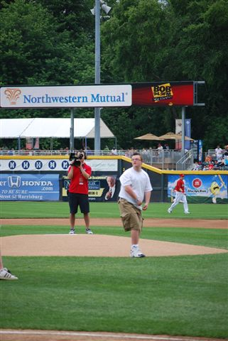 Spencer Grab throw the first pitch of the game!