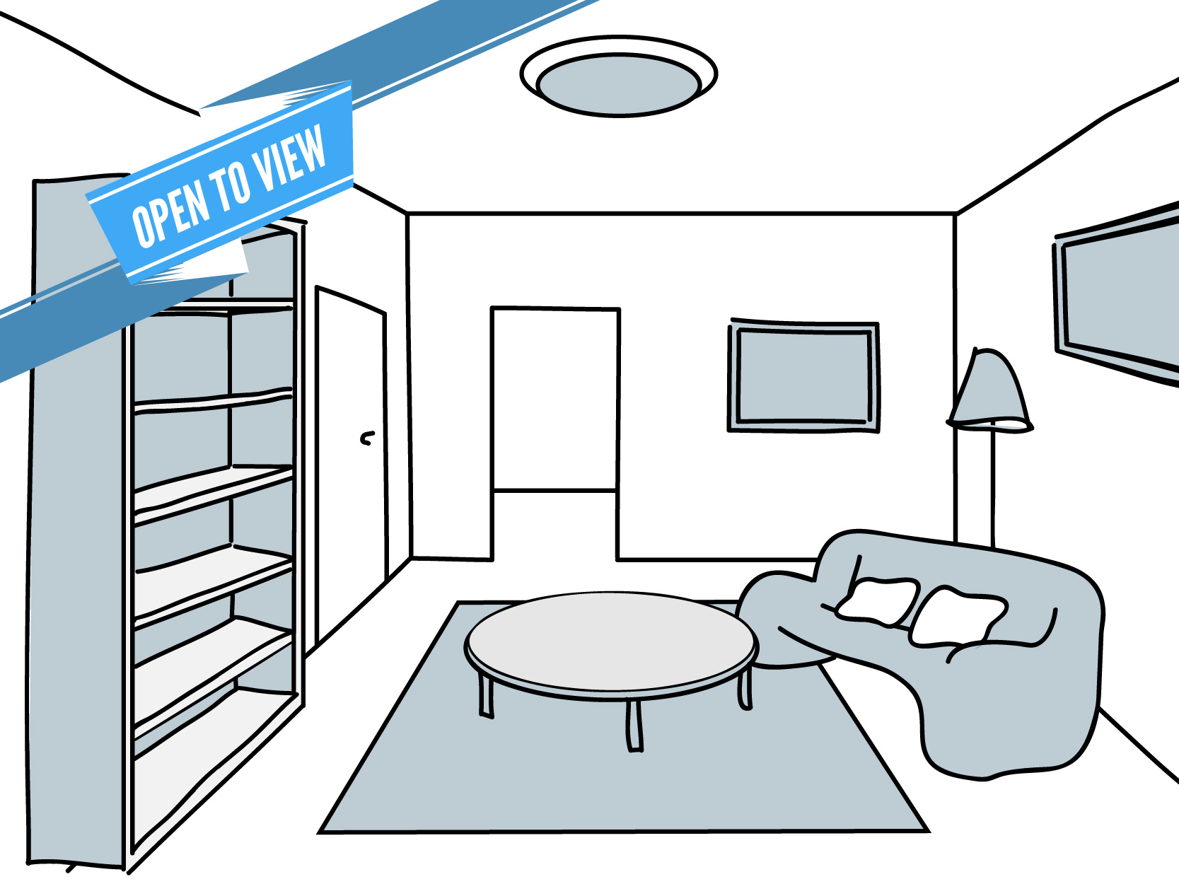 3. Once your furniture is in place, you are free to make changes as you please.
