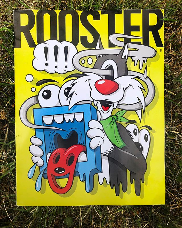Thanks Rooster Magazine for the cover feature 🙏‼️🐓 - Swipe 👈 for the interview.... - #gregmike #larryloudmouf #roostermagazine #interview #art #newcontemporary #contemporaryart