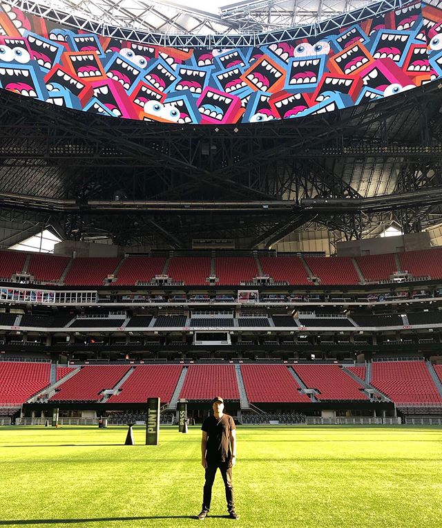 Had an awesome time speaking at Creative Mornings Atlanta (@atlanta_cm) this AM at the @mercedesbenzstadium. - 🙏 Special thanks to everyone who attended to hear my story and how it relates to the topic of Wonder🔮 -  If you missed it, it'll be released online soon! 💻✌️ - Photos by:  @abvagency  @jespermikk  @maryclairephoto. - #gregmike #larryloudmouf #weloveatl #creativemornings #atlanta_cm #atlanta #art #mercedesbenzstadium #atl #newcontemporary