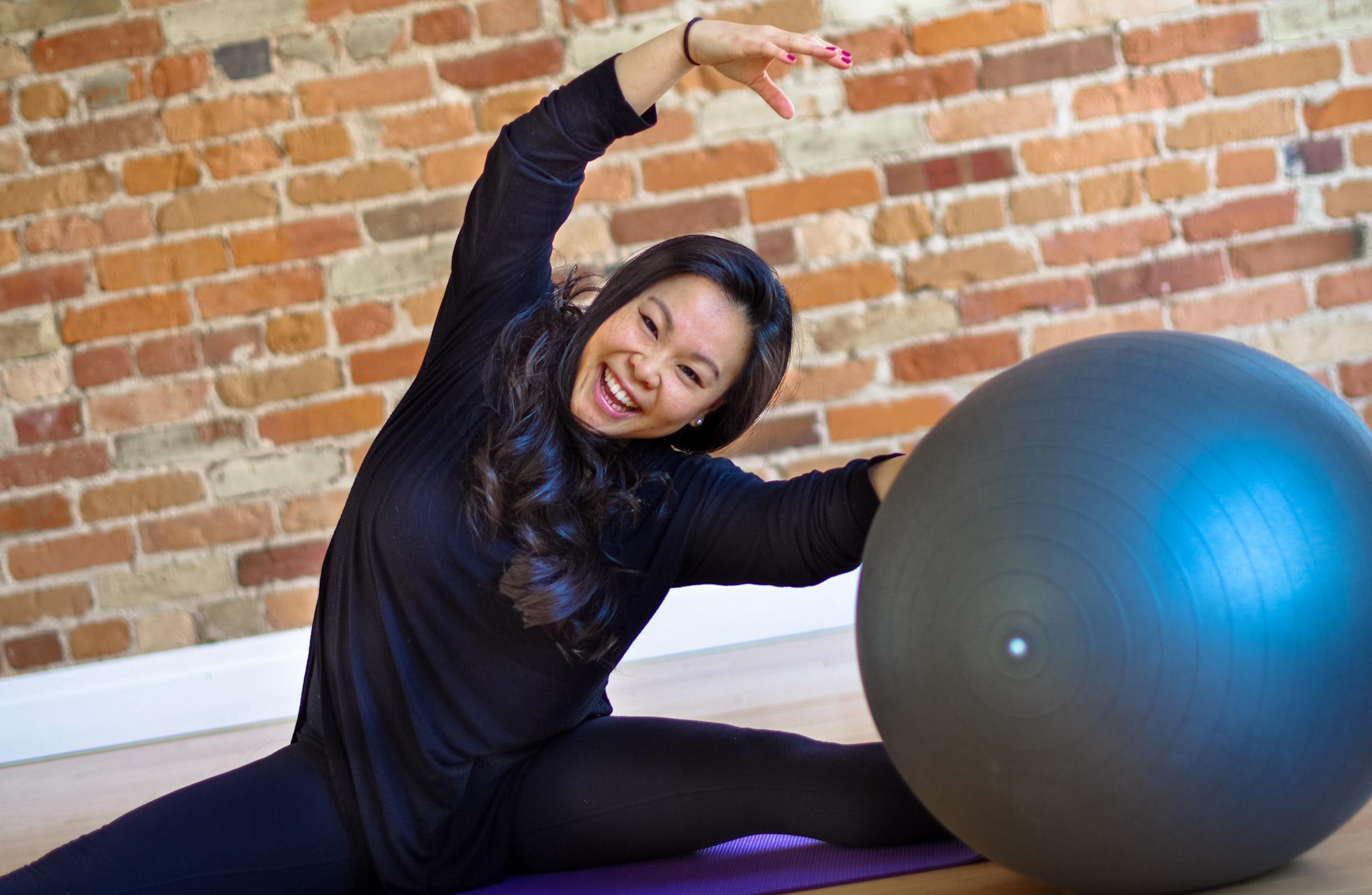 Pilates instructor posing