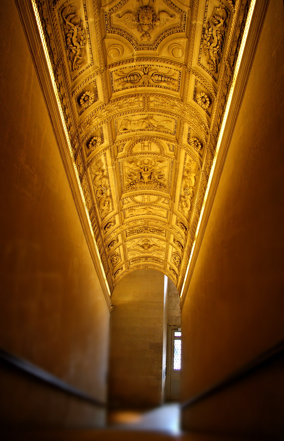The Louvre hallway in Paris France