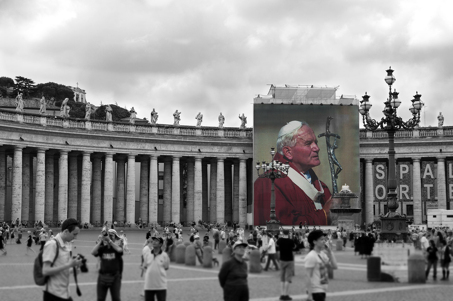 St. Peter's square in Vatican city Rome Italy
