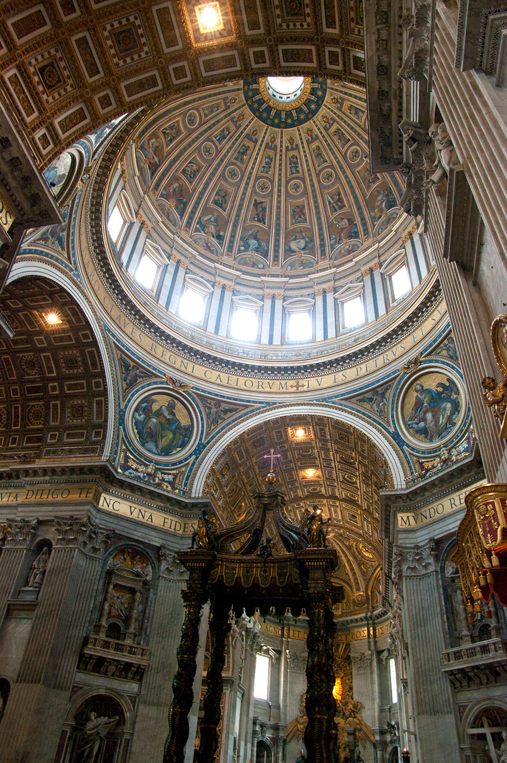 Inside St. Peter's Basilica in Vatican City, Rome Italy