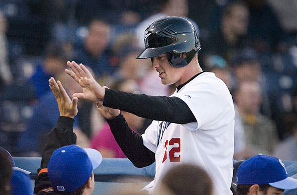 Matt Wieters as a member of the Norfolk Tides in 2009 (credit: Hamptonroads.com)
