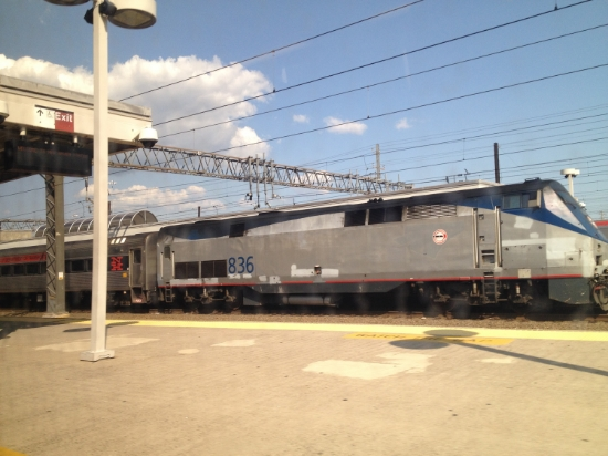 Amtrak in New Haven station