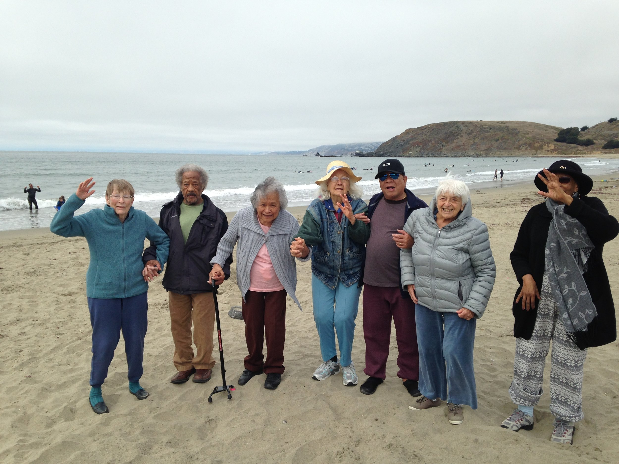Sun valley Chateau Pacifica elderly and senior care beach day