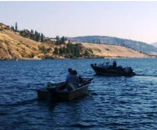 Boats on Lake Roosevelt during the Fall Campout at Fort Spokane