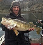 Del caught this 27 inch fish at Rufus Woods on April 5th.