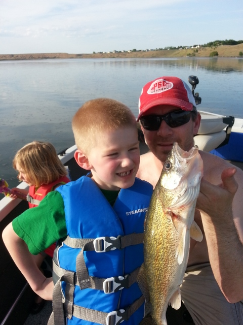 Tim and his son at Moses Lake on the weekend of May 11-12.
