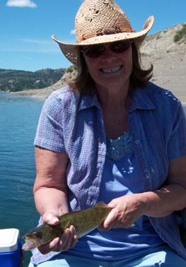 Donna's first walleye!