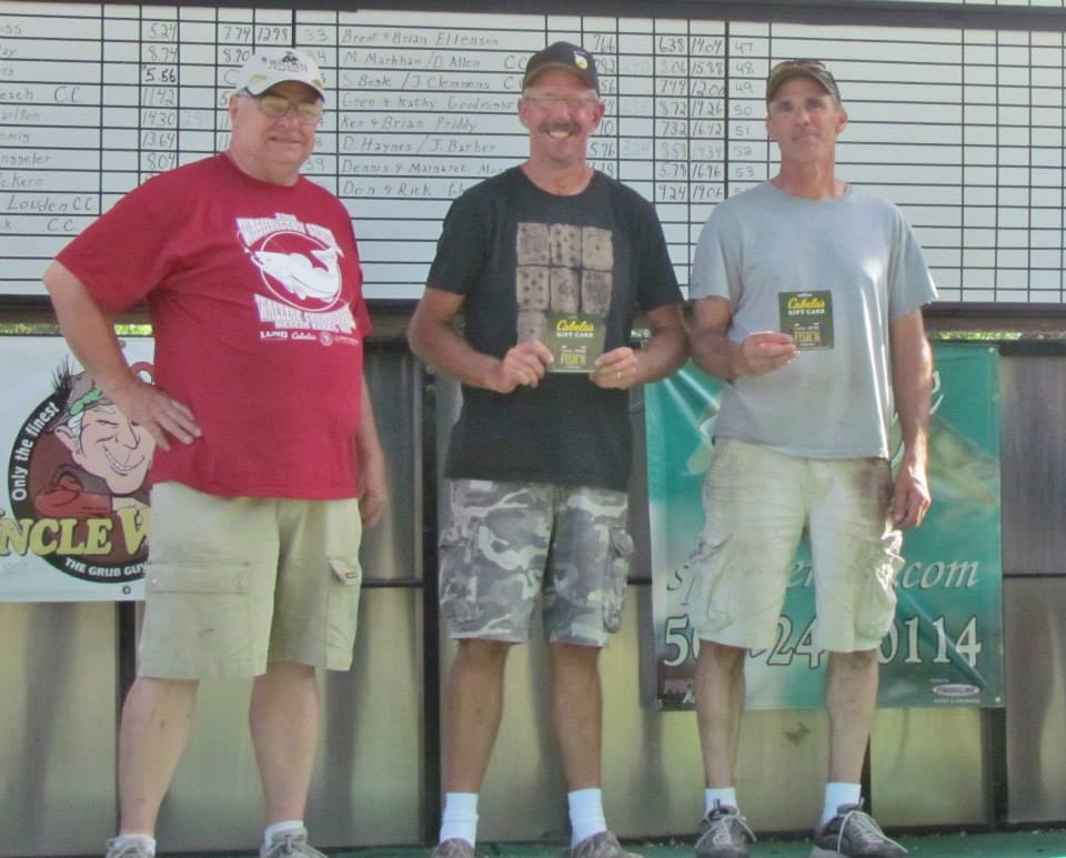 2014 Washington State Walleye Circuit Final Points Leaders Sam Grant and Dave Harrell