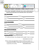 2019 Entry Form