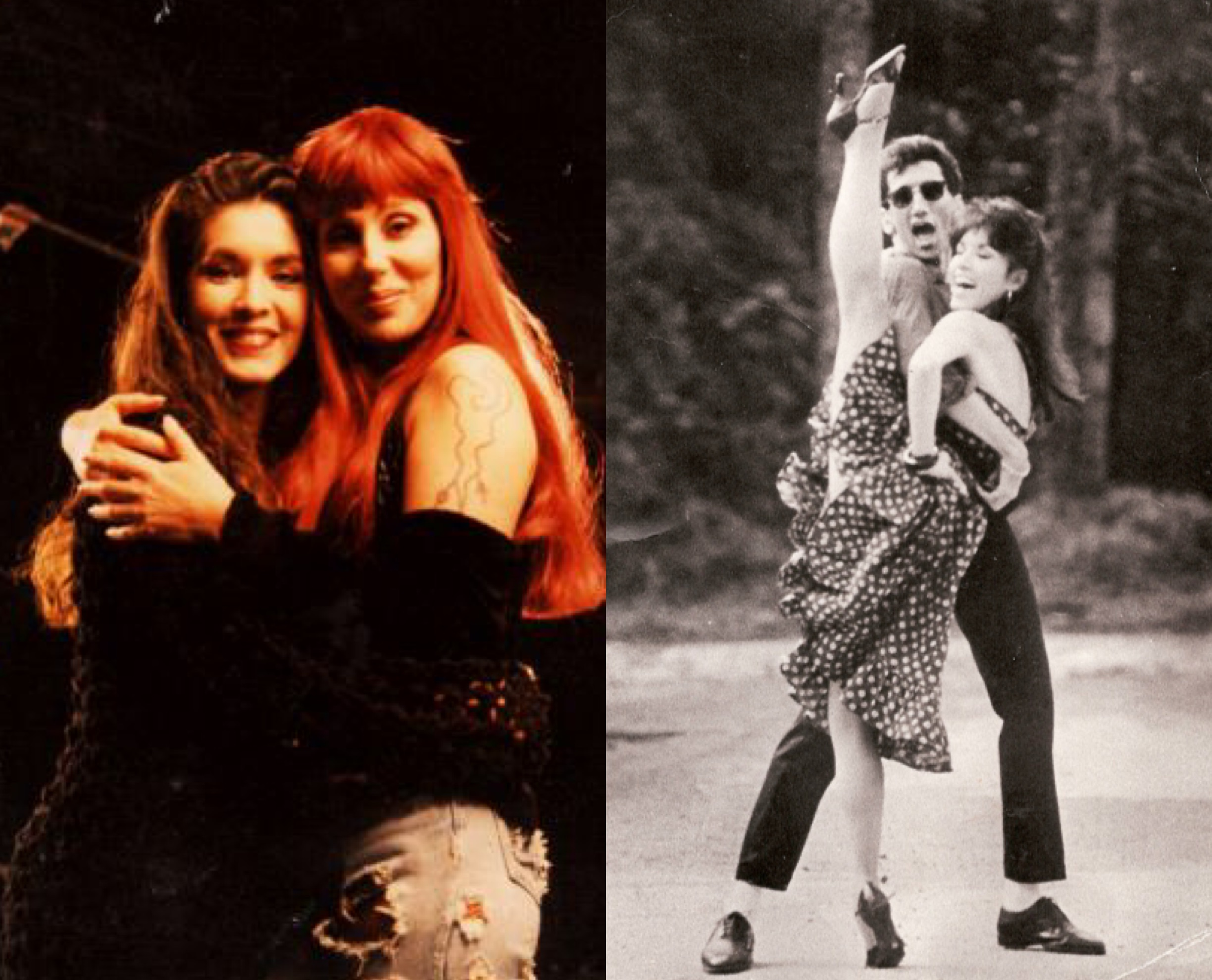 Left:  Doriana and Cher    Right: Doriana on the film  Dirty Dancing