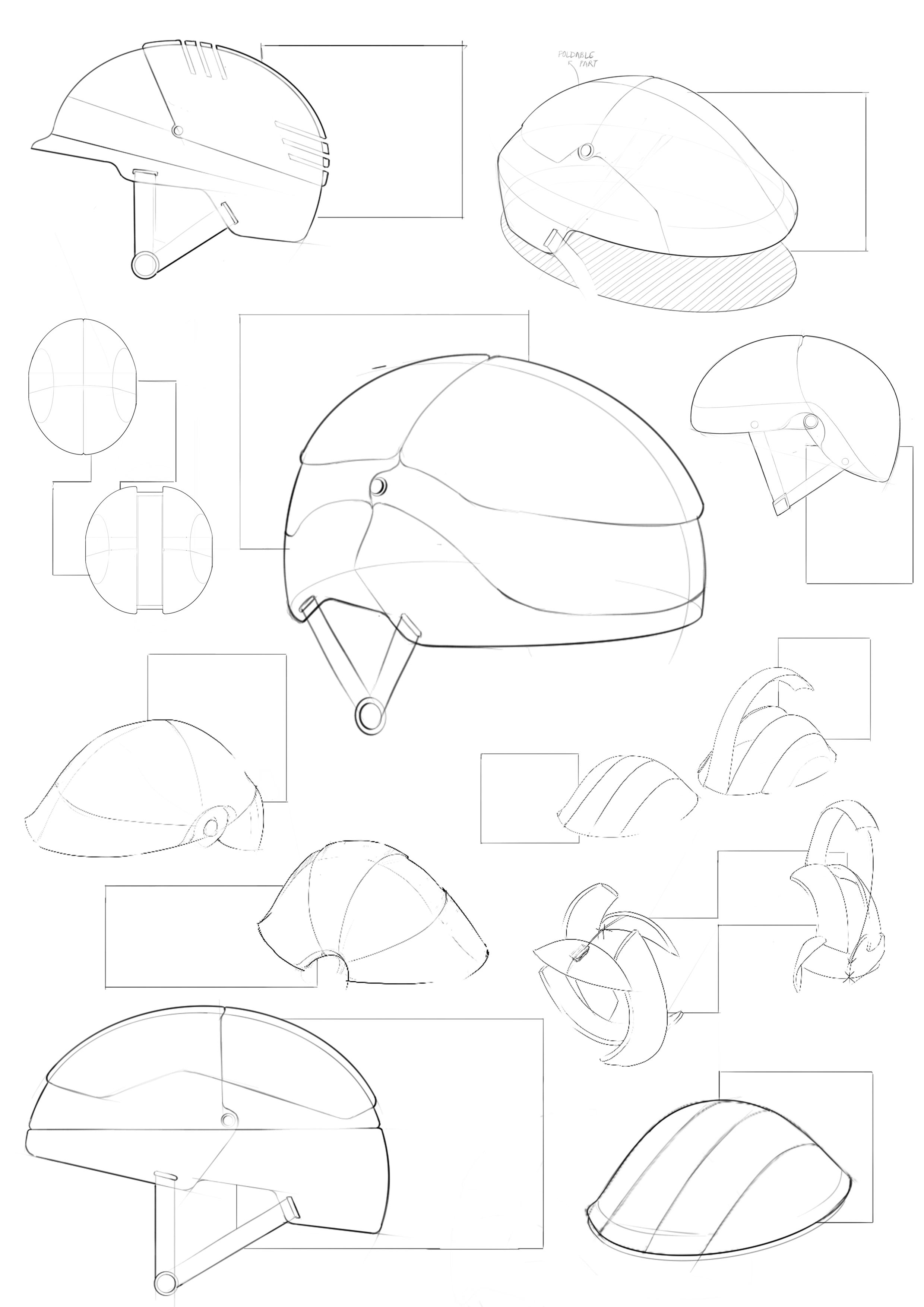 Sketches of a few initial concepts and forms.