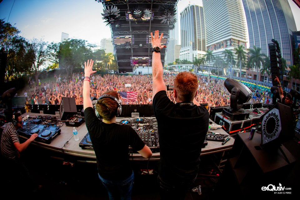Tritonal performs during the 2013 Ultra Music Festival in Miami, FL
