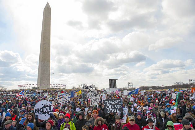 "The anti-Keystone ""Forward on Climate"" rally in Washington DC, February 17th, 2013.      Jay Mallin/ZUMA Press"